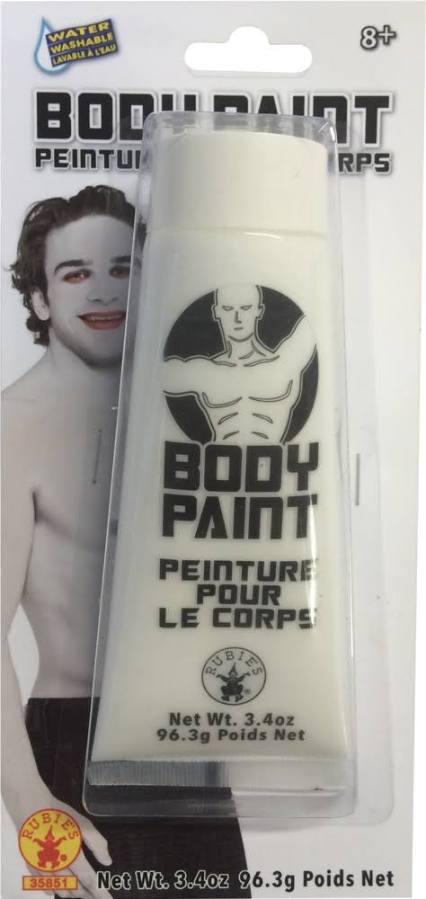 Cream Costume Makeup Face Body Paint - White, 3.4oz