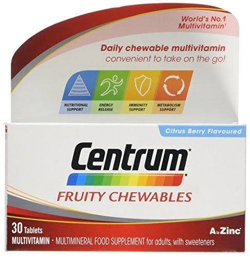 Centrum Fruity Chewables Multivitamin Supplement - 30 Tablets