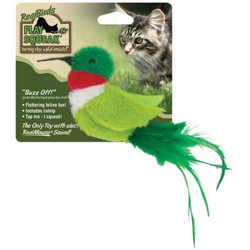 Play N Squeak Real Birds Buzz off Interactive Cat Toy