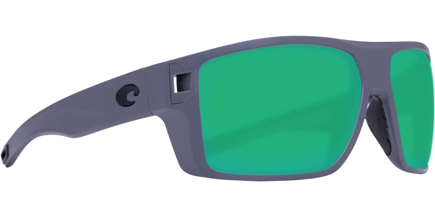 Diego Sunglasses | Costa Del Mar Matte Gray / Green Mirror