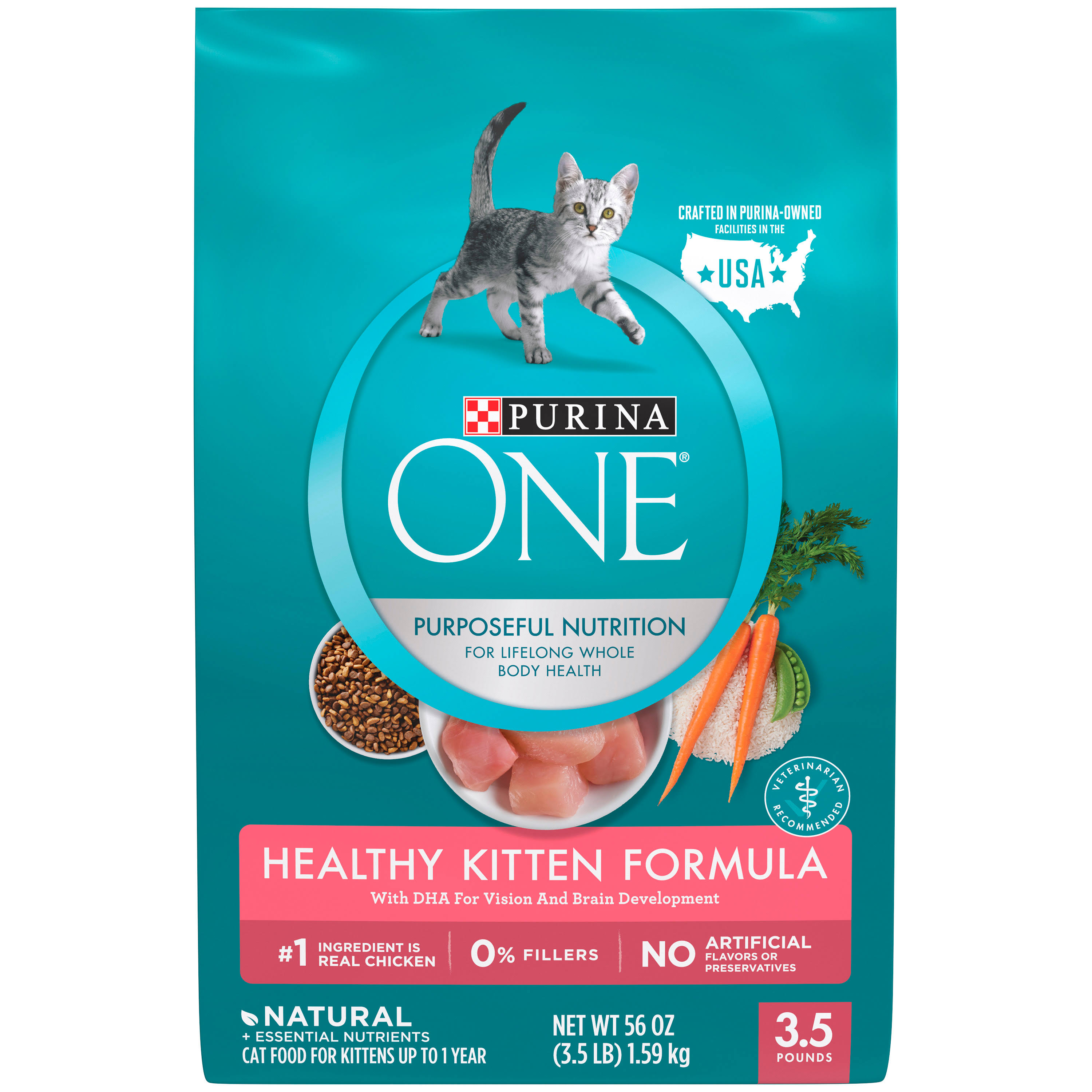 Purina One Healthy Kitten Formula Premium Cat Food - 3.5lb