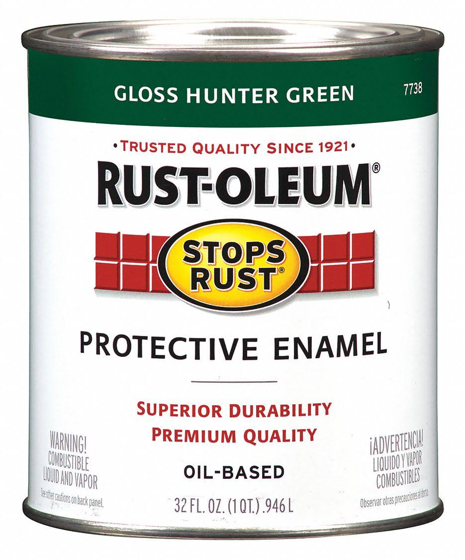 Rust Oleum Stops Rust Gloss Hunter Green Oil Based Protective Enamel - Hunter Green, 32oz