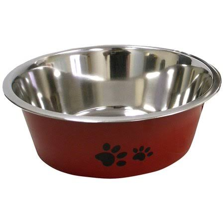IMS New Cadet Stainless Steel Dog Bowl - Red, 2qt