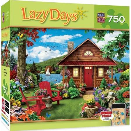 MasterPieces Lazy Days Waterfront Lakeside Cottage 750-Piece Jigsaw Puzzle