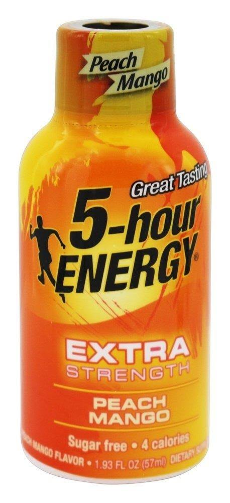 5-Hour Energy Dietary Supplement - Peach Mango, 1.93oz