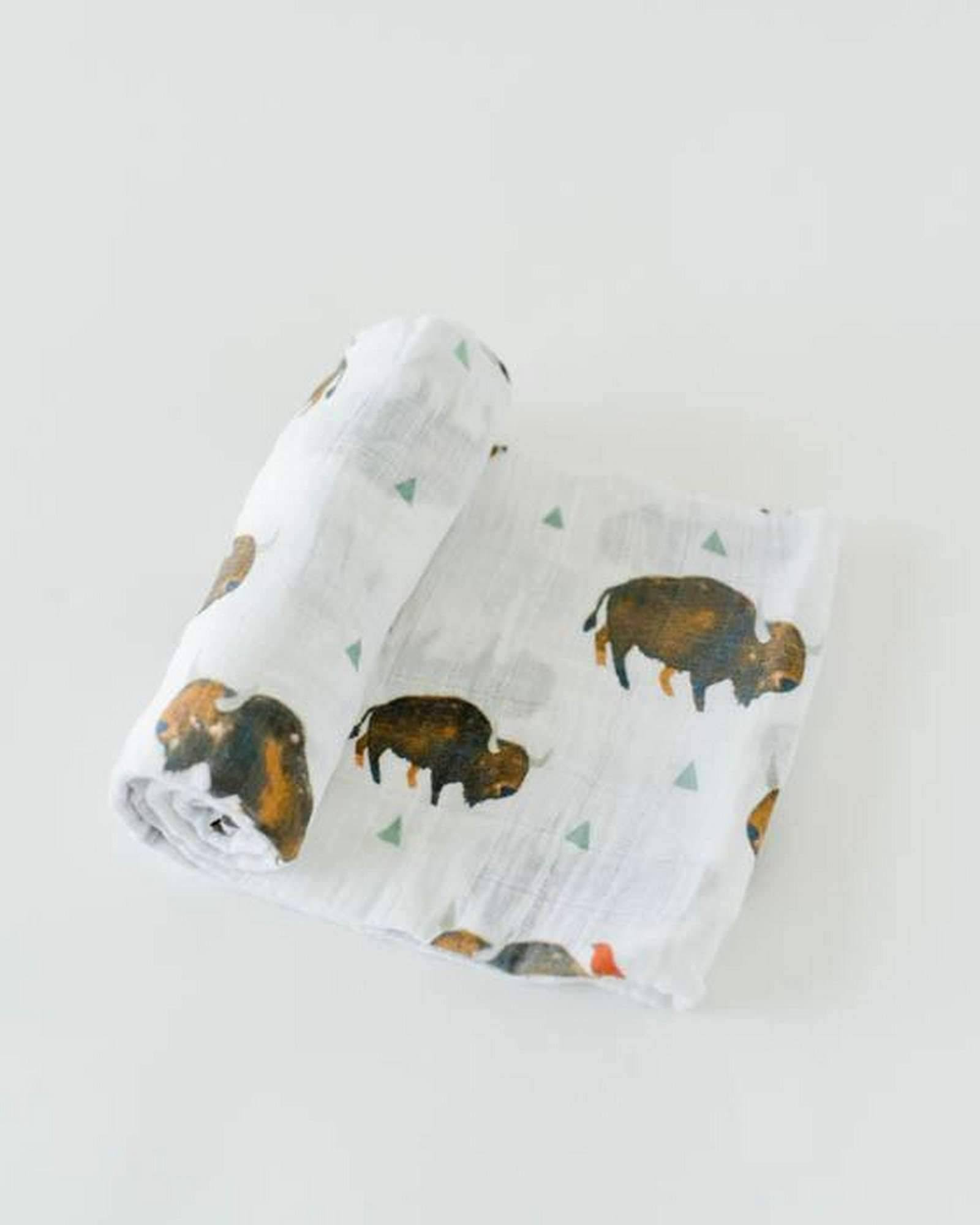 Little Unicorn Cotton Muslin Swaddle (Bison)