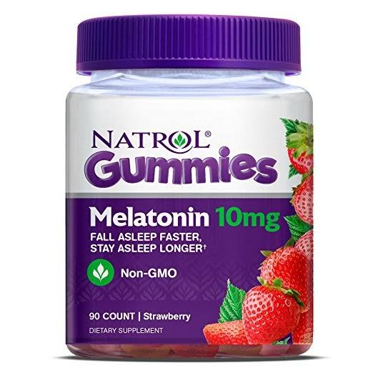 Natrol Gummies Melatonin Dietary Supplement - Strawberry, 10mg, 90ct