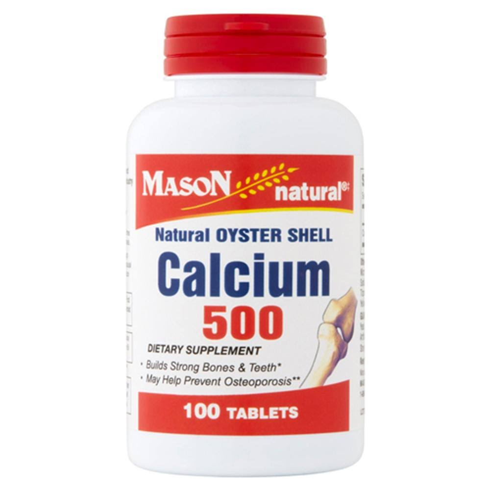 Mason Natural Natural Oyster Shell Calcium 500 - 100 Tablets