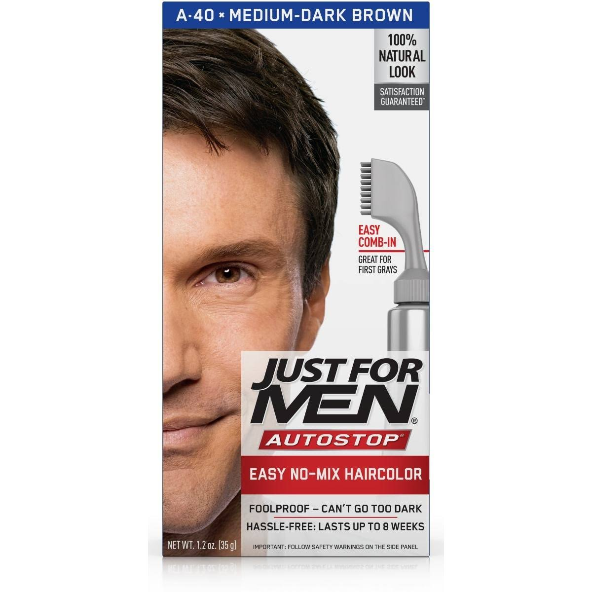 Just for Men Auto Stop Men's Hair Color - Medium Dark Brown