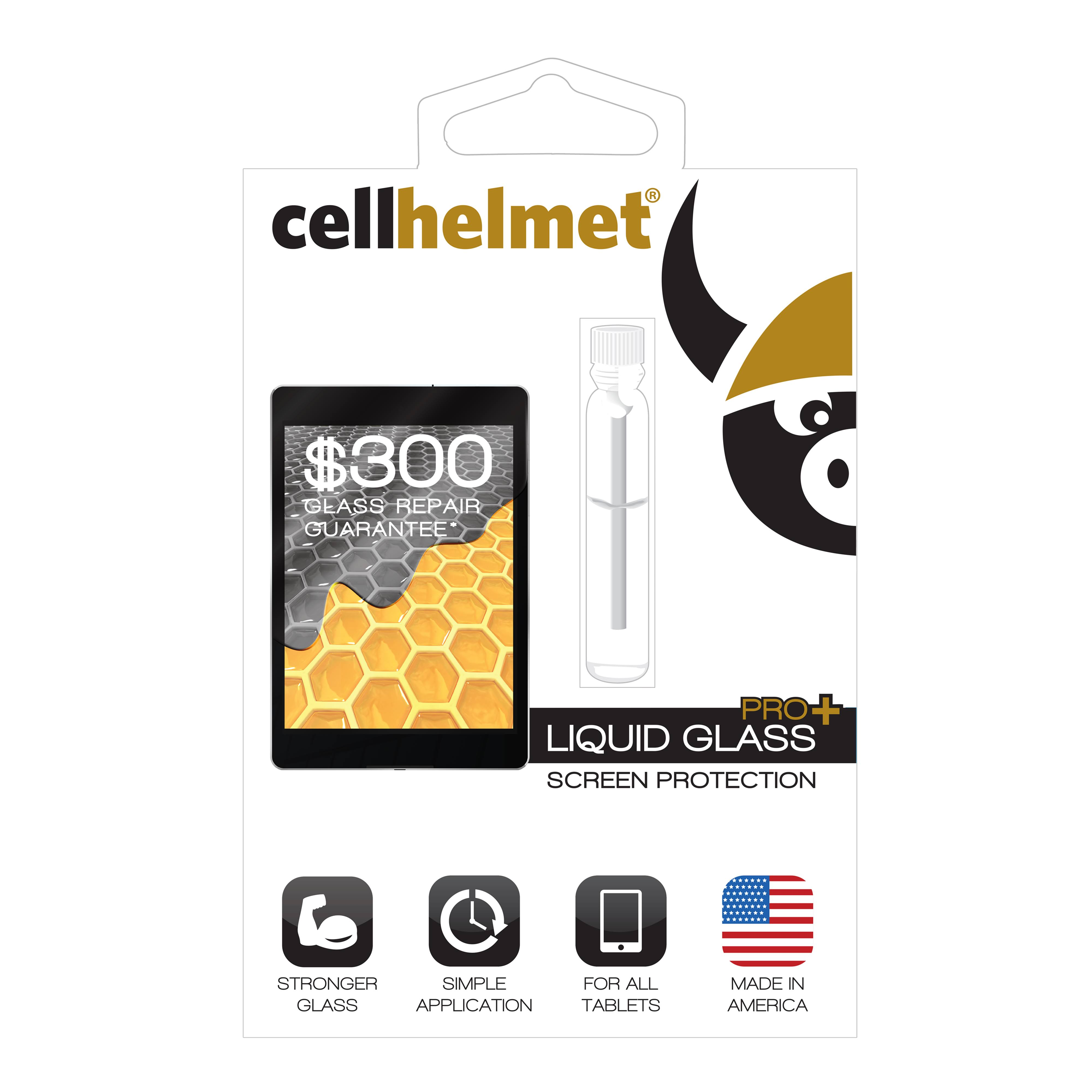 Cellhelmet Liquid Glass Pro+ Screen Protector for Tablets (300 Screen Repair Guarantee)