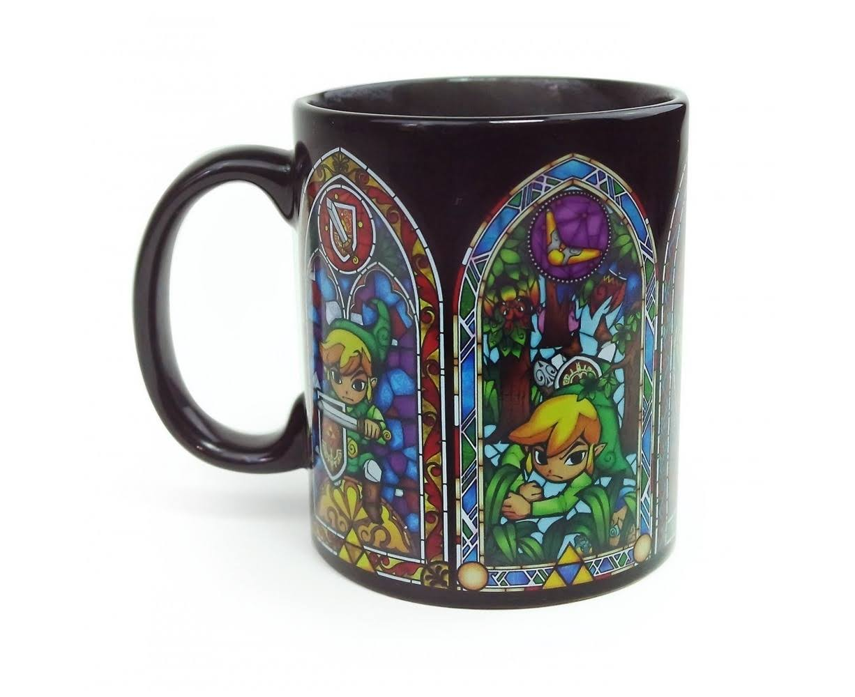 Nintendo PP3240NN Legend of Zelda Heat Change Coffee Mug - Black