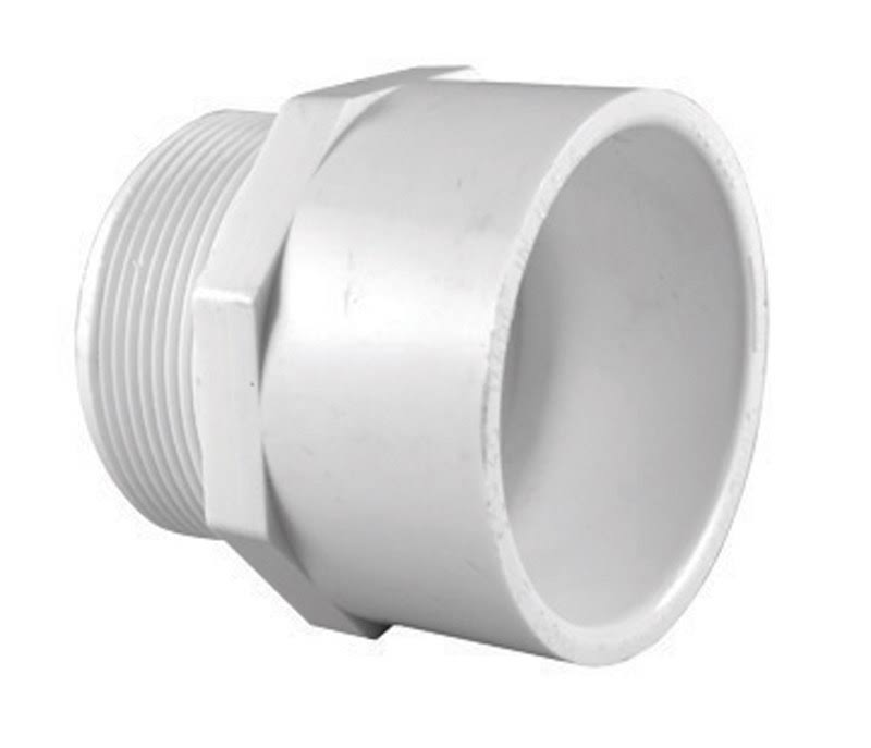 "Charlotte Pipe PVC Adapter - 3"", White"