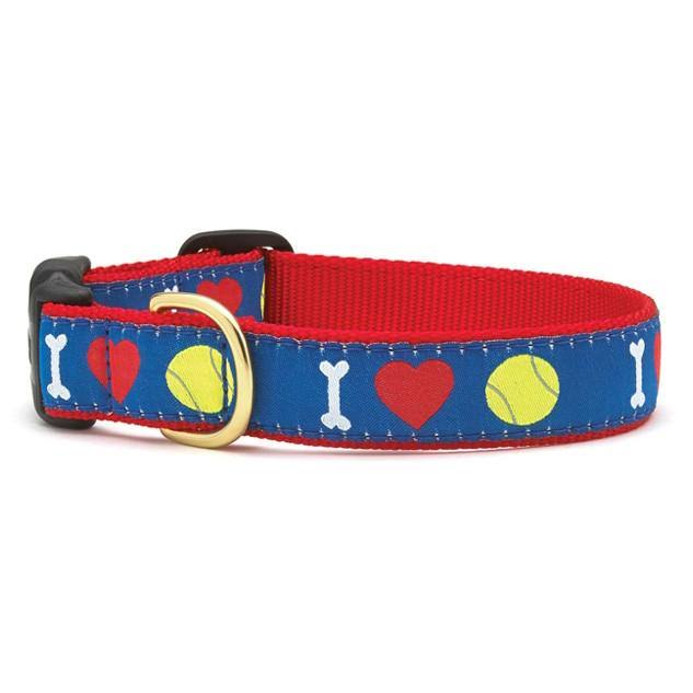Up Country Tennis Ball Dog Collar - X-Small