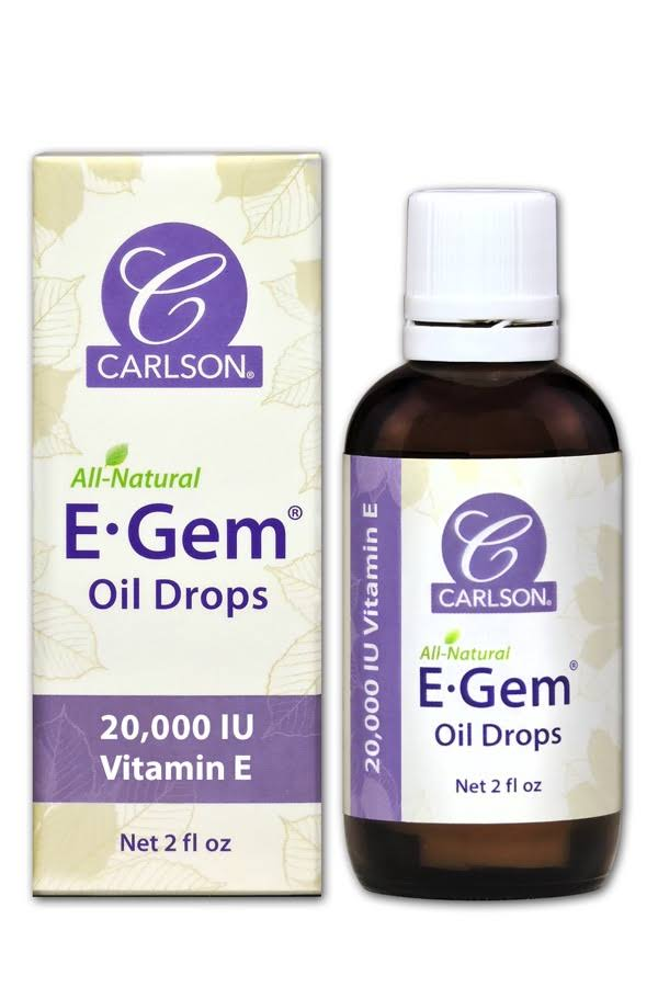 Carlson Laboratories E Gem Oil Drops - 2oz