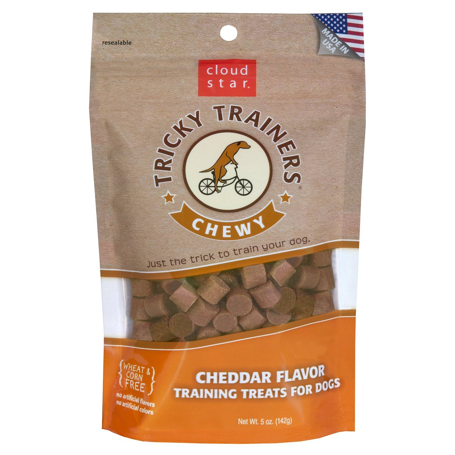 Cloud Star Tricky Trainers Chewy Dog Treats - Cheddar, 14oz