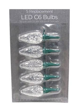 Celebrations C6 LED Replacement Bulbs - White