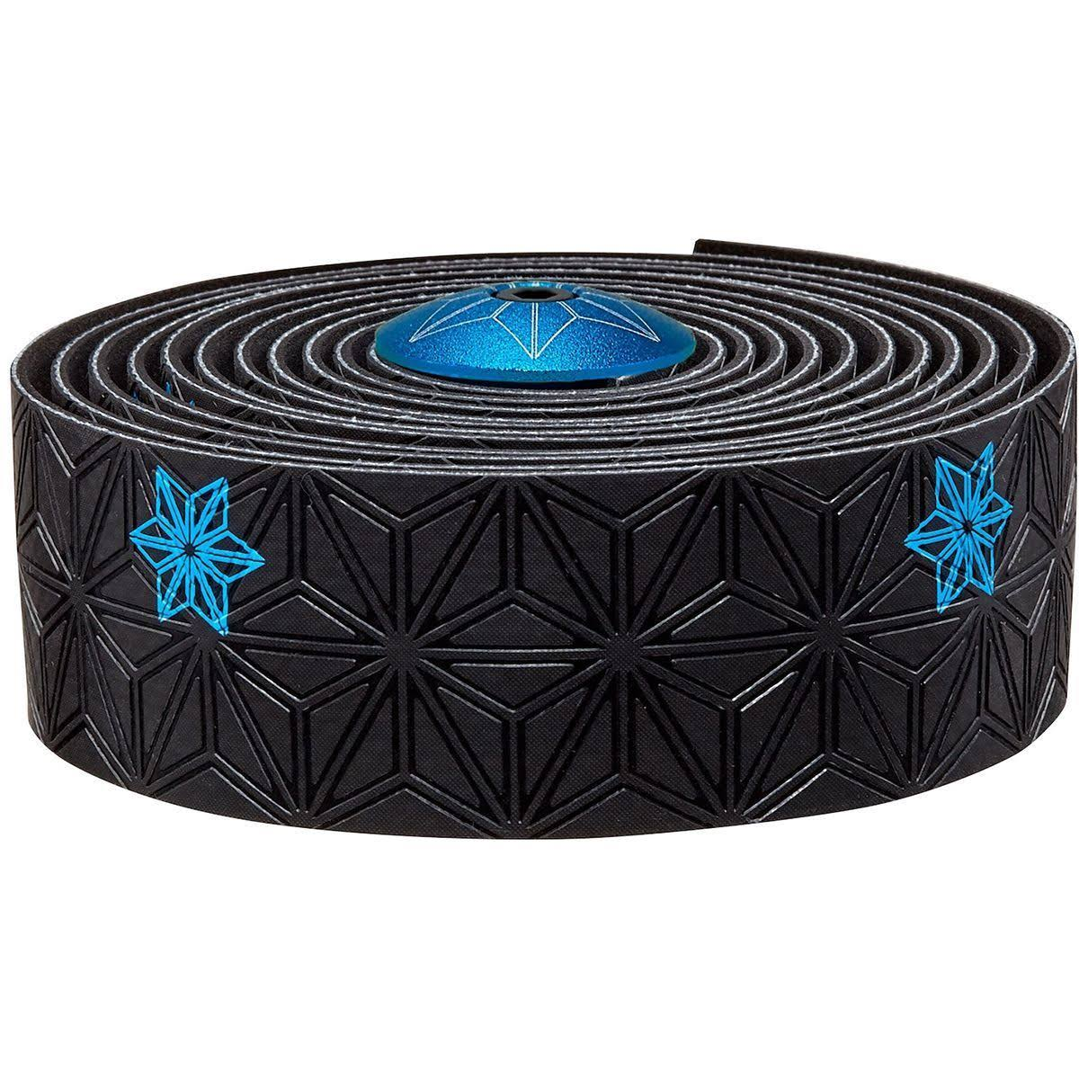Supacaz Galaxy Printed Super Sticky Kush Bar Tape - Black and Neon Blue