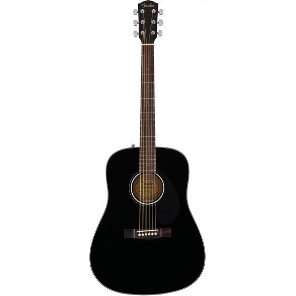 Fender Acoustic Laurel Fret Board Guitar - Black, 6 String