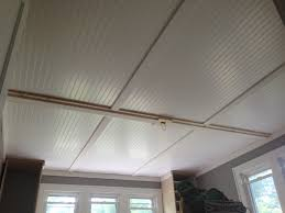 Armstrong Woodhaven Ceiling Planks by Ceiling U0026 Fan Beautify Your Home Using Beadboard Ceiling