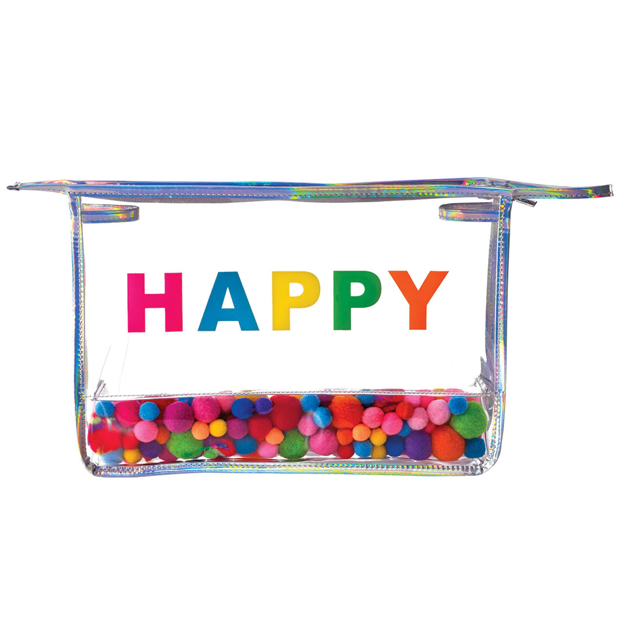 iscream Happy Pom Pom Clear Travel Bag