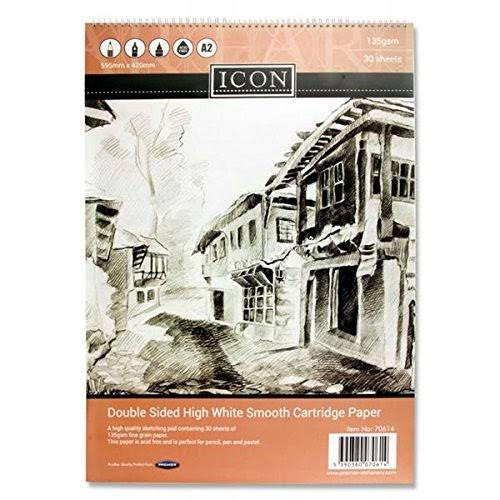 Icon Sketch Pad A2 Spiral - 30 Sheets