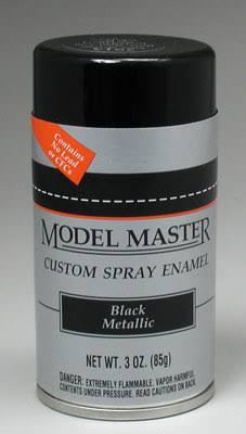 Model Master Spray Black Metallic Enamel Paint 3 oz Testors 2913