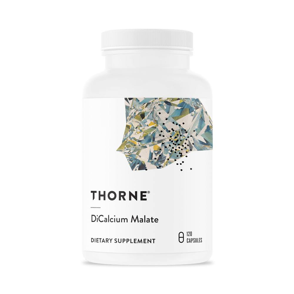 Thorne Calcium Research DiCalcium Malate Concentrated Supplement - 120 Capsules