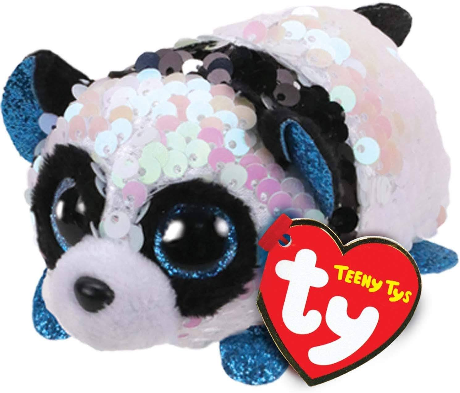 Ty Bamboo The Panda Teeny Tys Flippable Sequin Plush