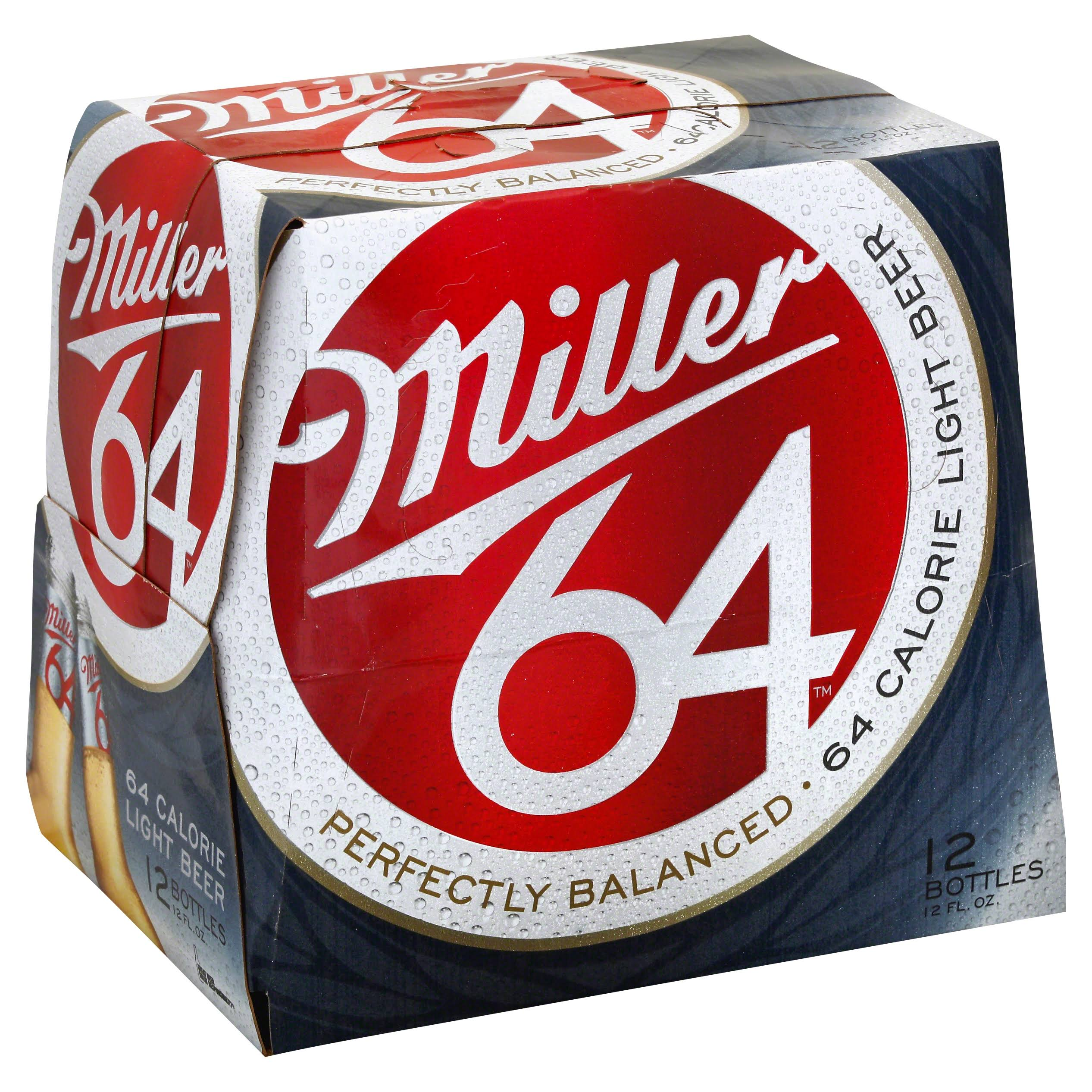 Miller64 Light Beer - 12 Bottles