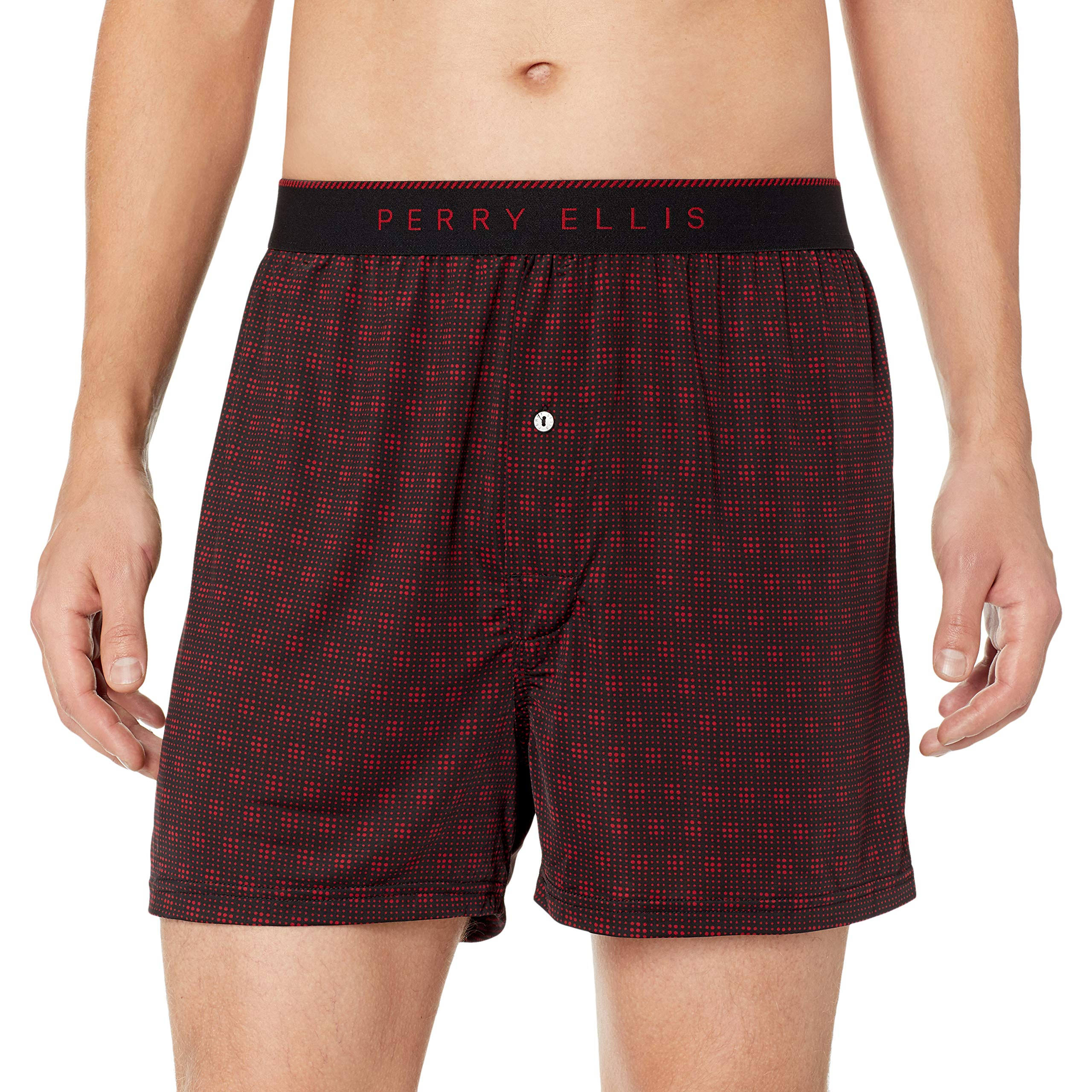 Perry Ellis Men's Scatter Dot Luxe Boxer Short