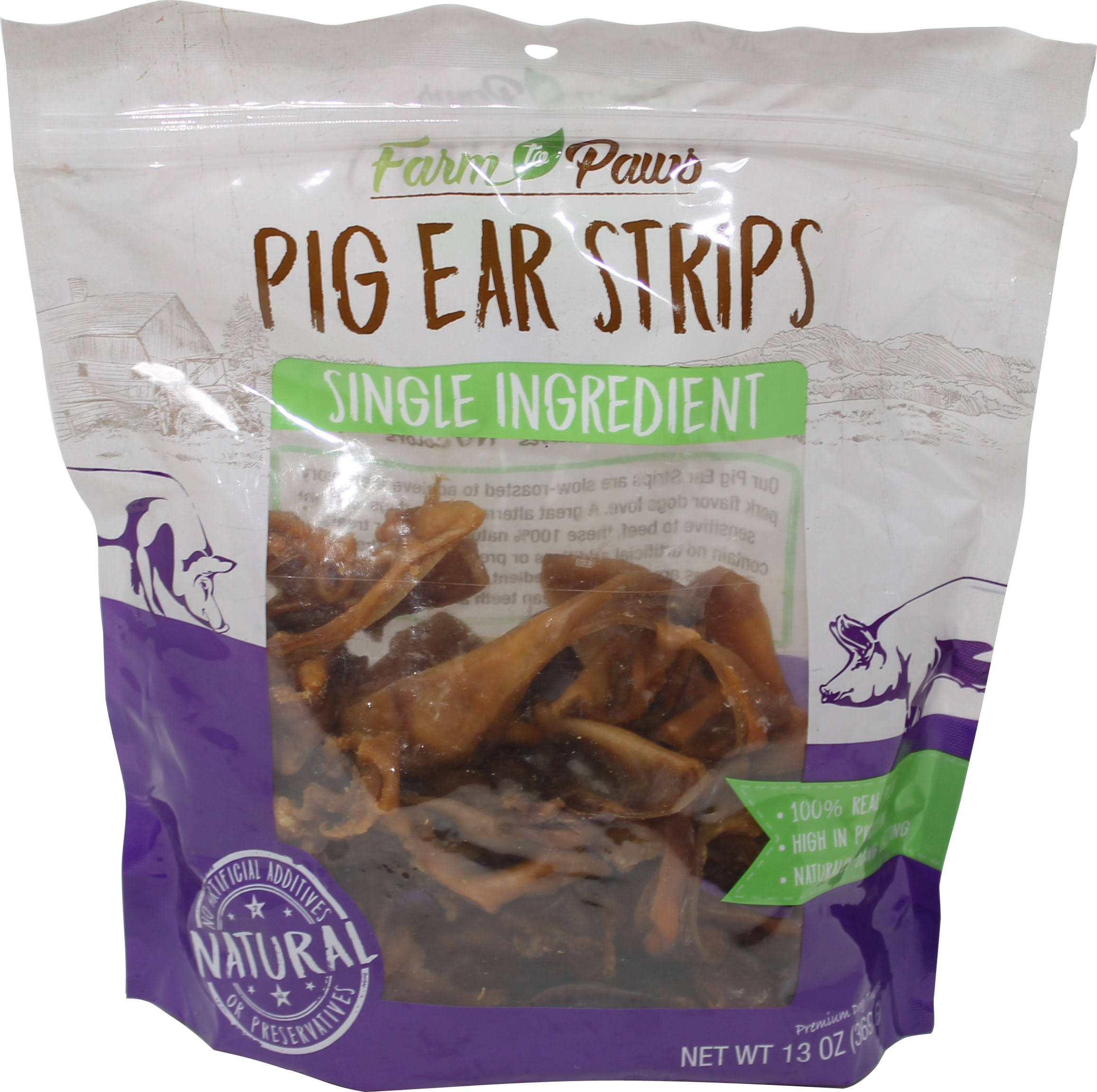 IMS Trading Corporation Farm to Paws Pig Ear Strips C70010