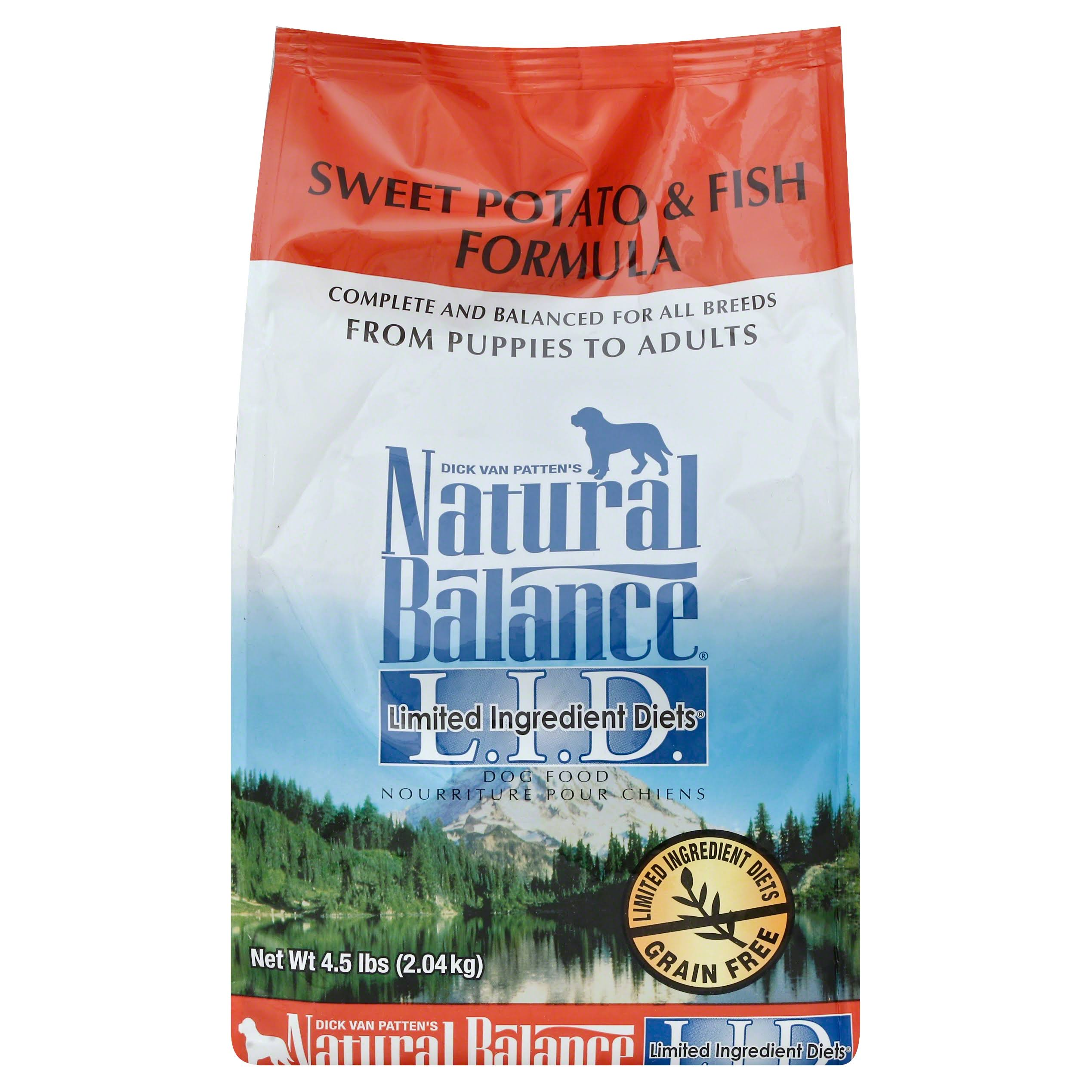 Dick Van Patten's Natural Balance Lid Sweet Potato And Fish Dry Dog Food - 4.5lbs