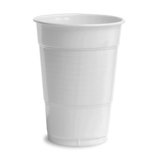 Creative Converting Touch of Color Plastic Cups - White, 20ct, 16oz