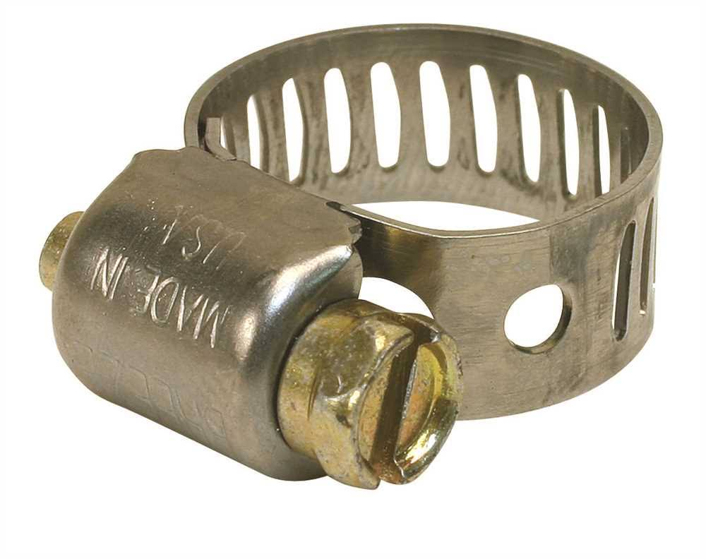 "Breeze Mini Hose Clamp - 410 Stainless Steel, 7/16"" To 25/32"", Pack of 10"