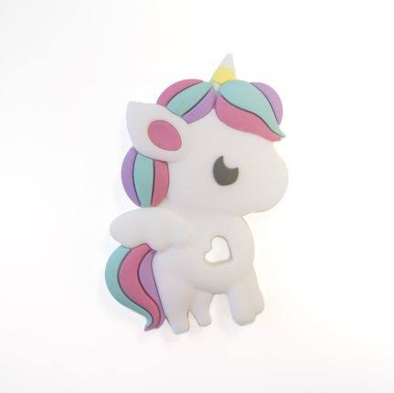 Loulou Lollipop Rainbow Unicorn Silicone Teether