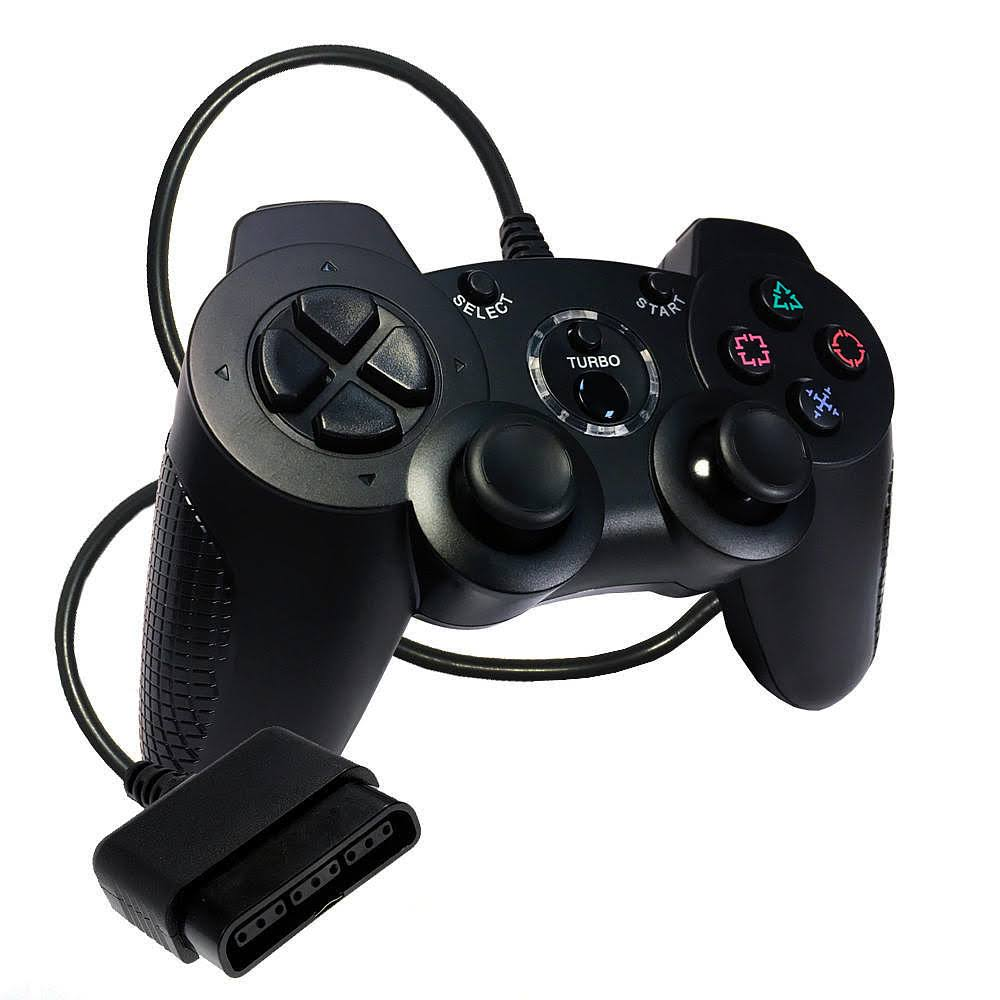 Old Skool Double Shock 2 Controller for Sony PS2