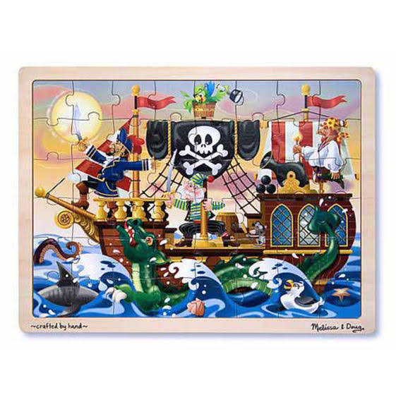 Melissa and Doug Jigsaw Puzzle - Pirate Adventure, 48pcs