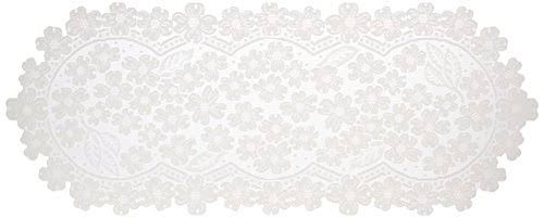 "Table Runner Dogwood 14"" x 33"" Table Linens Heritage Lace"