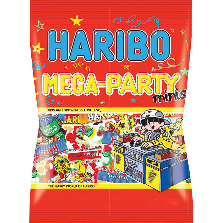 Haribo Mega-Party Minis Candy - Multipack, 200g