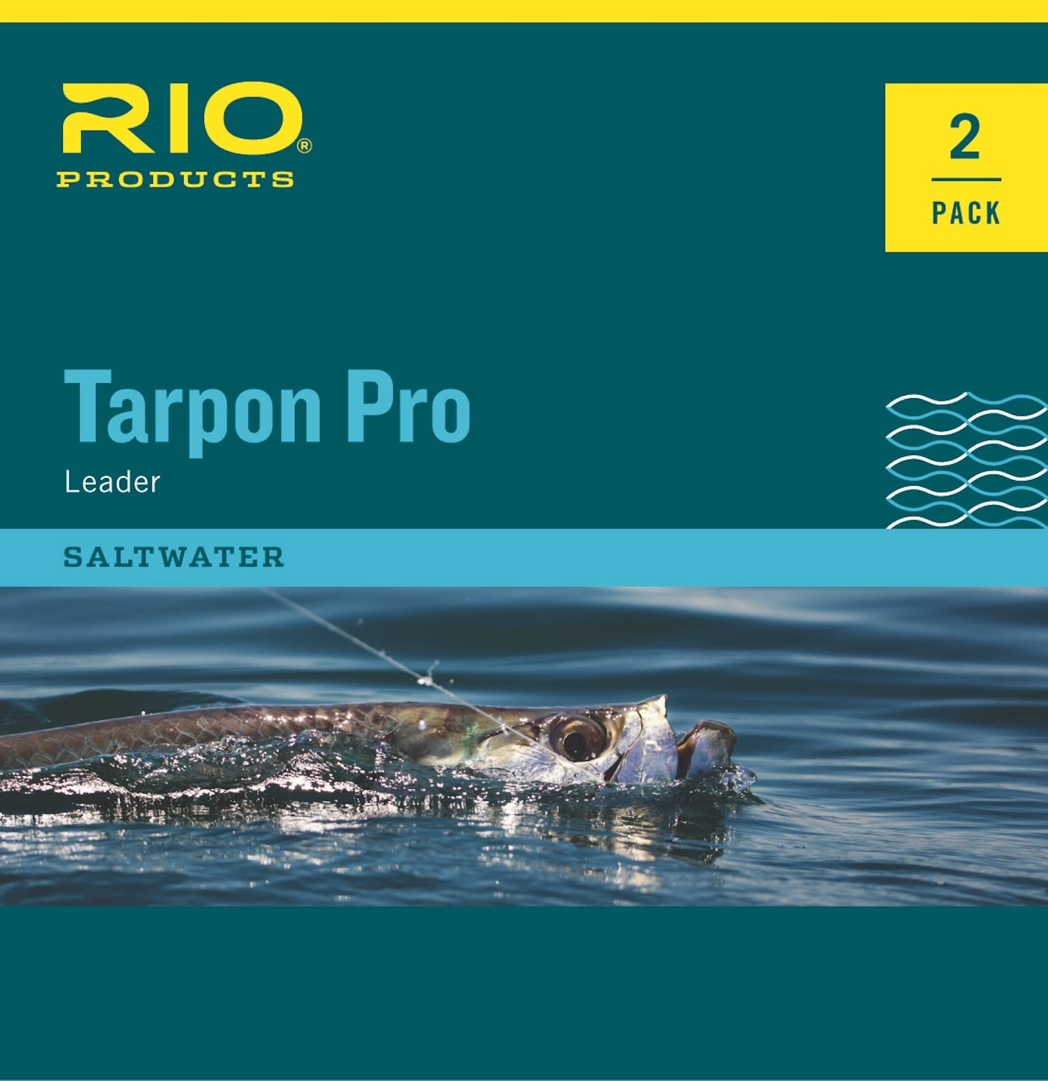 Rio Pro Tarpon Tapered Fluorocarbon Shock Fly Fishing Leaders - 2pk