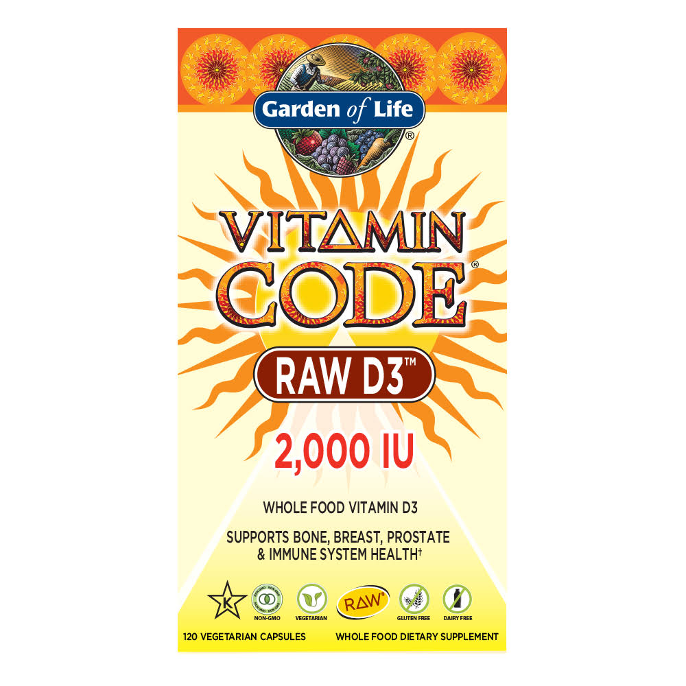 Garden of Life Vitamin Code Raw D3 - 120 Capsules