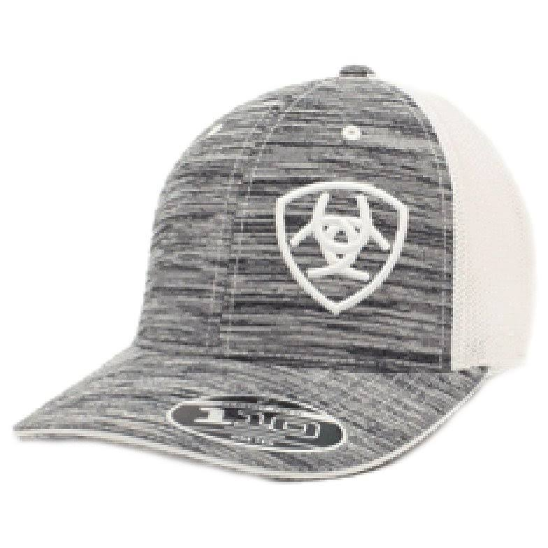 Ariat Men's Heather Offset Logo Cap - Grey/White