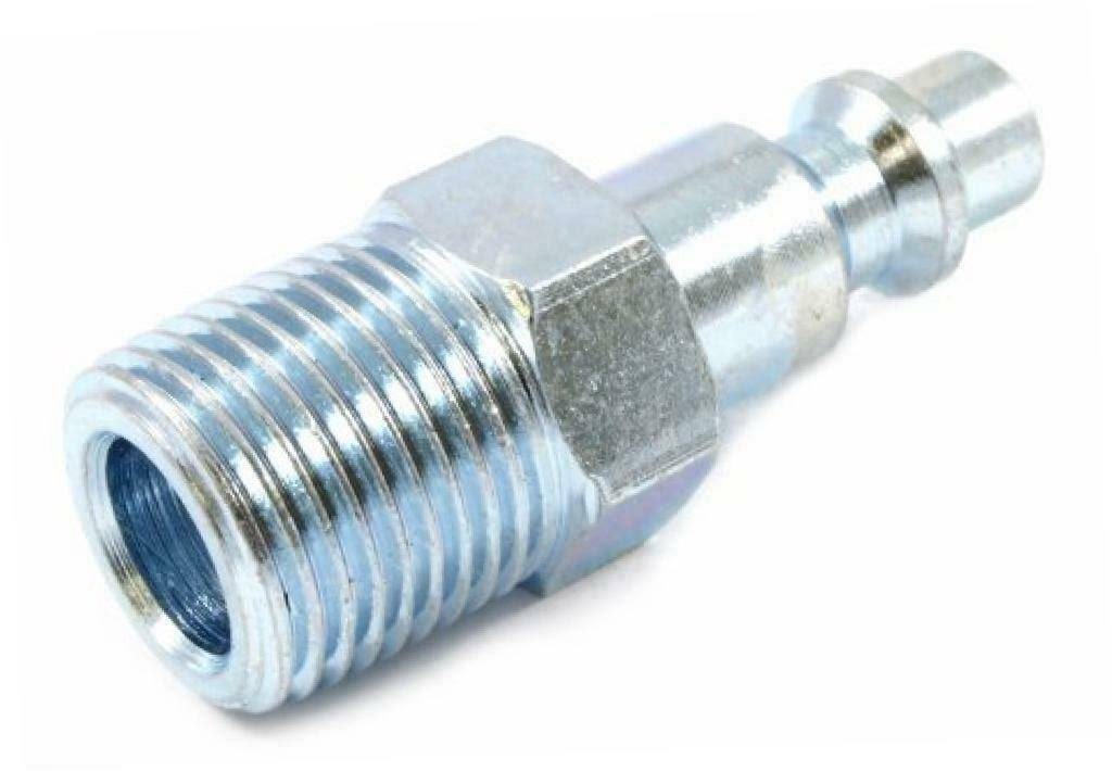 "Forney Industrial Milton Style Air Fitting Plug - 1/4"" x 3/8"" Male NPT"