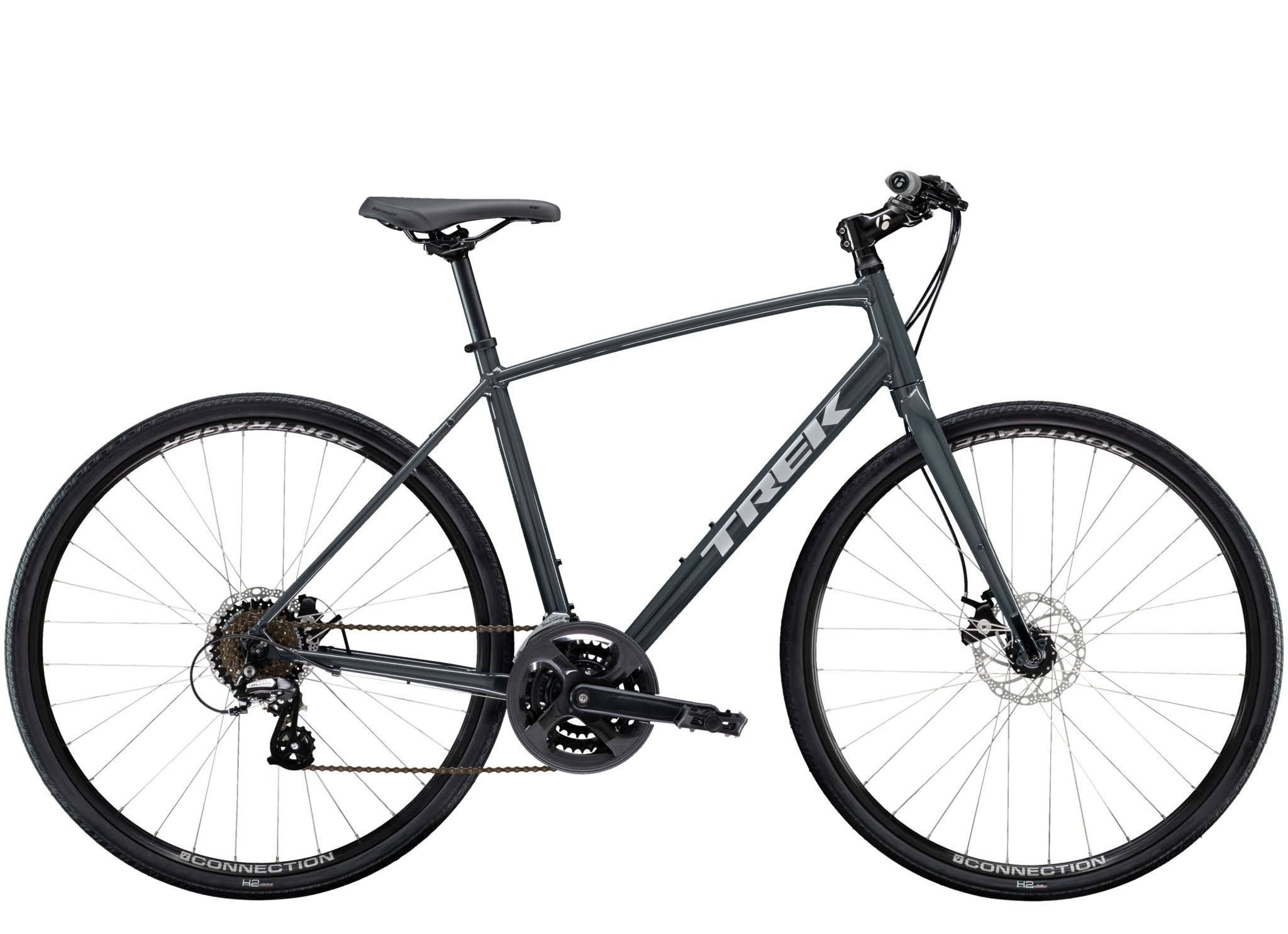 Trek FX 1 Disc Fitness Bikes - Solid Charcoal, X Large