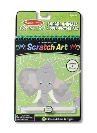 Melissa & Doug On The Go Scratch Art Safari Animals Hidden-Picture Pad