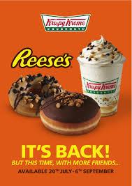 Krispy Kreme Halloween Donuts Calories by Krispy Kreme Brings Back Reese U0027s Peanut Butter Doughnut For The