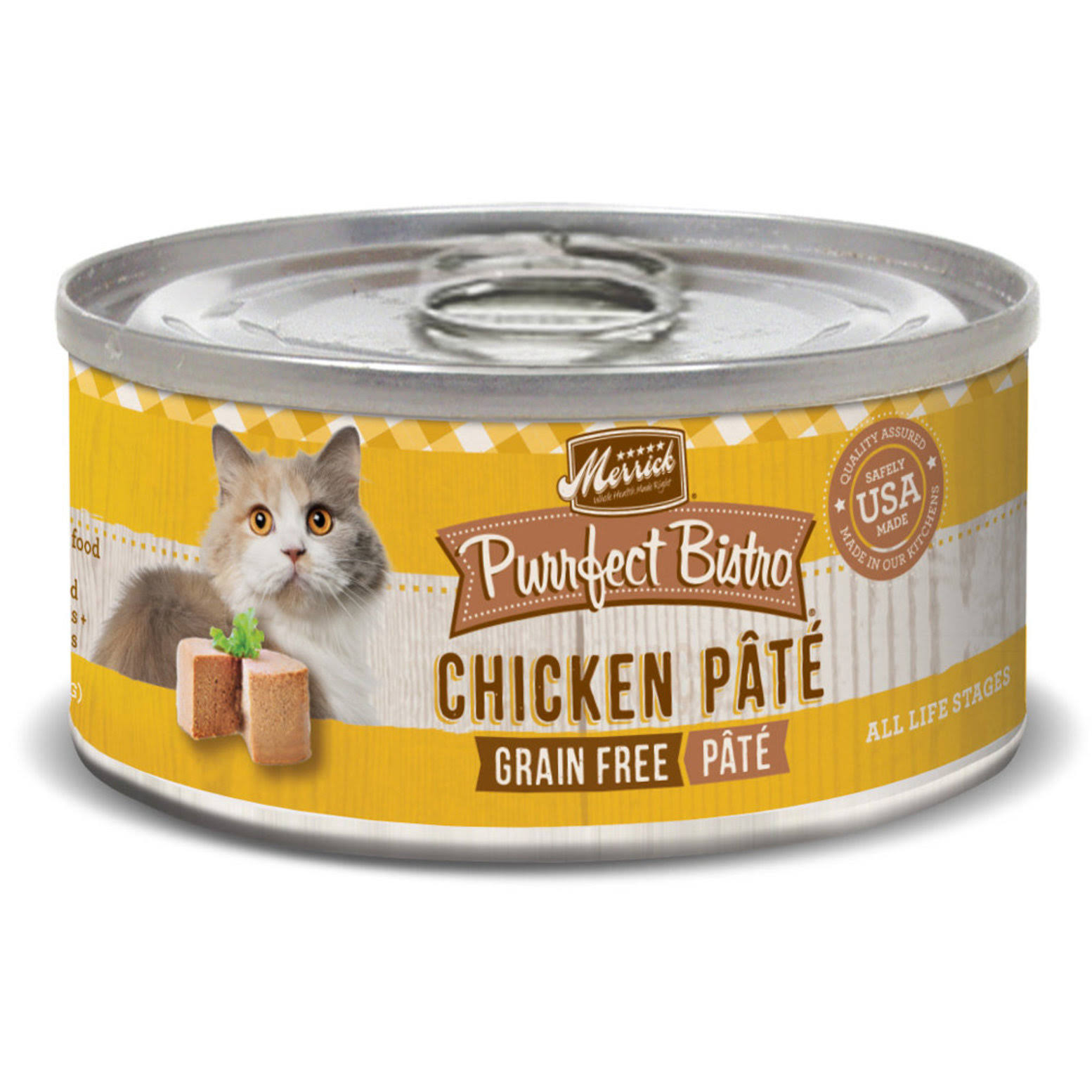 Merrick Purrfect Bistro Canned Cat Food - Chicken Pate, 3 oz
