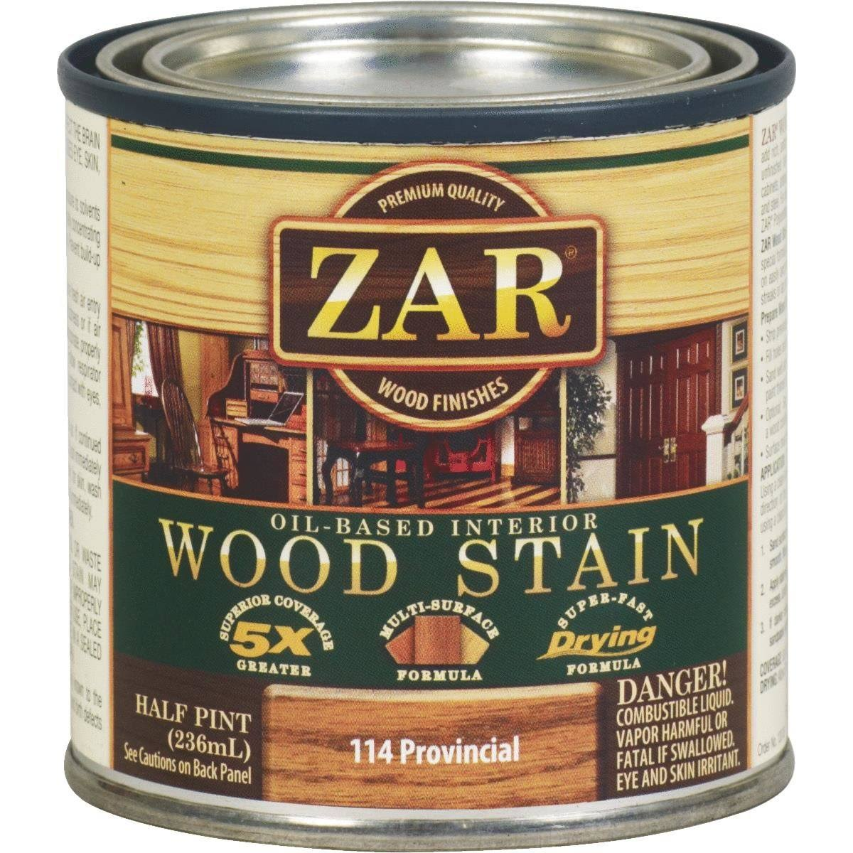 Zar Wood Stain - Provincial, 1/2 Pint