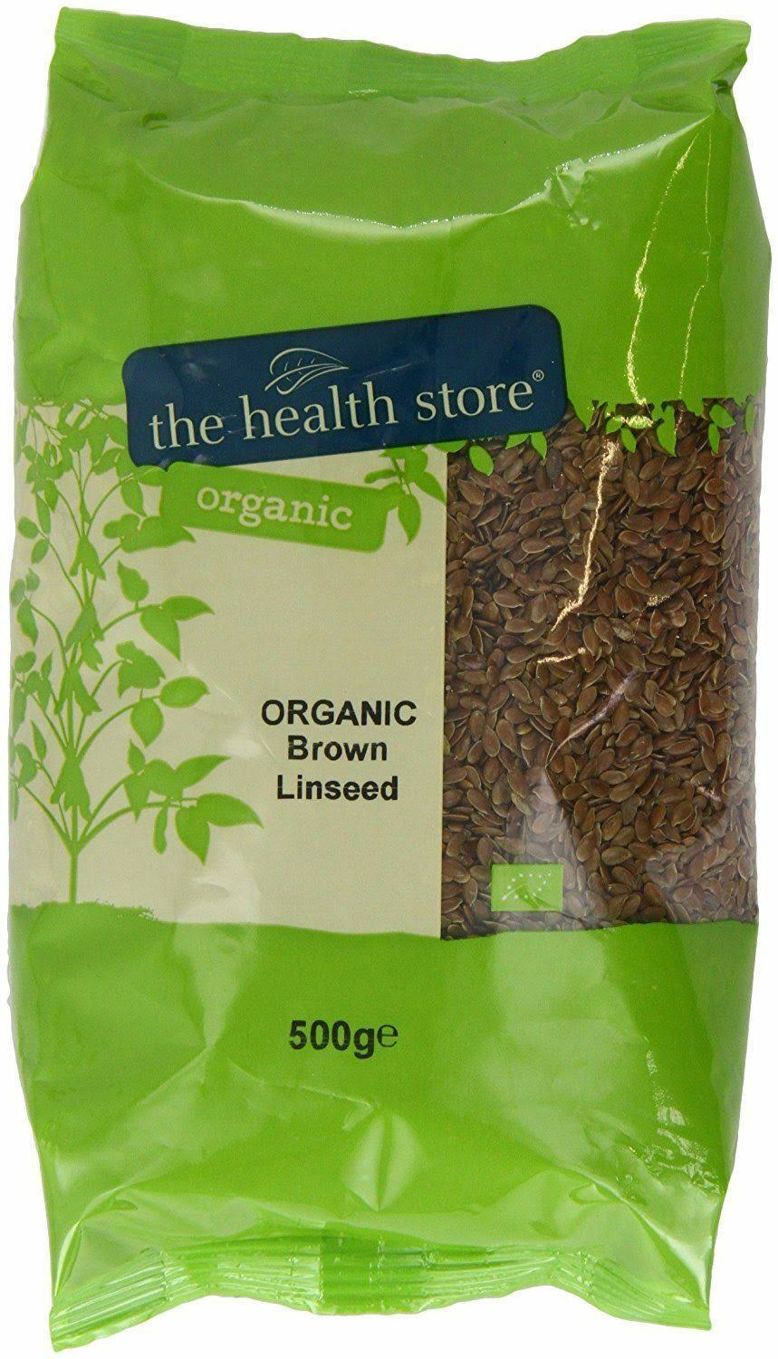 Health Store Organic Brown Linseed 500 G (Pack of 6)