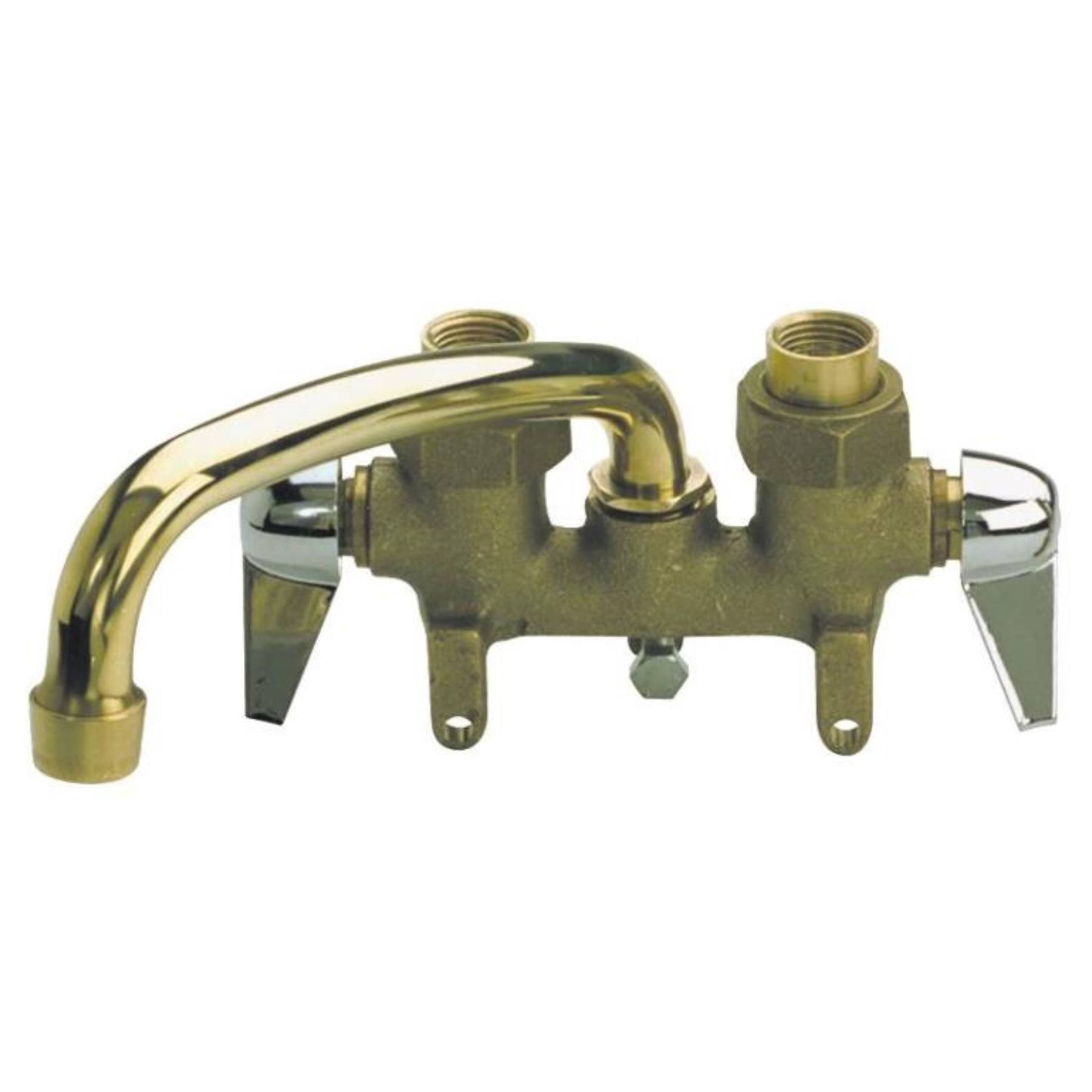 B & K Industries Laundry Tray Faucet - 2 Handle, Brass